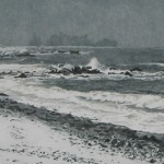 "Storm on the South Shore, edition size: 50, unframed 9"" x 23.5"" $495.00"