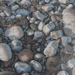 "Beach Rocks at Dawn, Edition size: 50 framed size 16.25"" x 20.5""  $495.00, unframed size 8"" x 12"" $375.00"