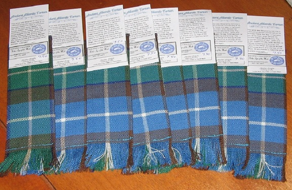 Ancient Atlantic Tartan Bookmarks