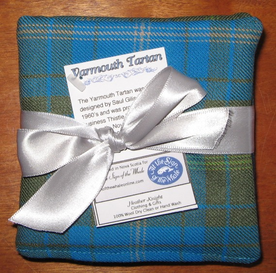 Yar tartan set of four coasters
