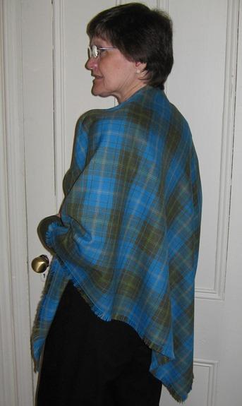 Yar tartan triangular shawl