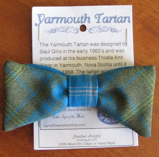 Yarmouth tartan adult bow tie