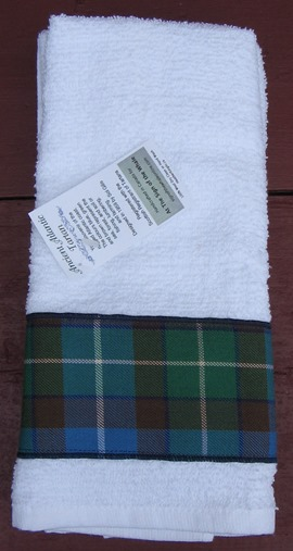 hand towel AA tartan
