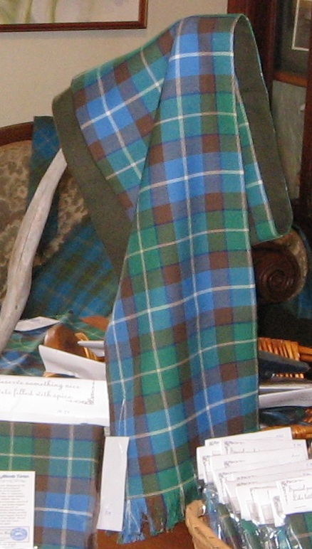 Ancient Atlantic Tartan Wool Lined Scarf