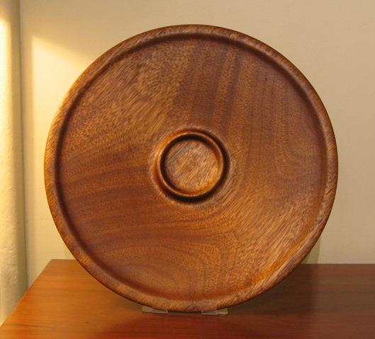 Hatt mahogany platter