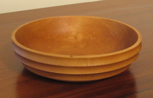 ridged maple bowl
